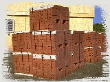 Stack of bricks at Site Waste Management Plan site